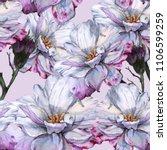 background of roses. seamless... | Shutterstock . vector #1106599259