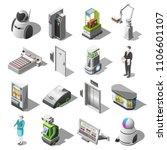 robotized hotels isometric... | Shutterstock .eps vector #1106601107