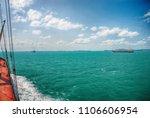 cargo ship sailing in high sea   Shutterstock . vector #1106606954