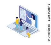 medical app  health technology... | Shutterstock .eps vector #1106608841