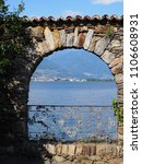 stony arch at alpine brissago... | Shutterstock . vector #1106608931