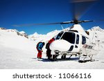 Heli Skiing Helicopter  Mont...