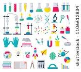 chemistry vector chemical... | Shutterstock .eps vector #1106612834