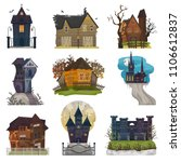 spooky house vector haunted... | Shutterstock .eps vector #1106612837