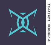 sign of the letter x | Shutterstock . vector #1106614481