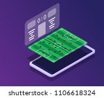 soccer field with score board... | Shutterstock .eps vector #1106618324