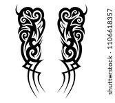 tribal pattern vector tattoos... | Shutterstock .eps vector #1106618357