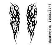 tattoos ideas sleeve designs  ... | Shutterstock .eps vector #1106618375