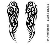 tattoo tribal sleeve  design... | Shutterstock .eps vector #1106618381