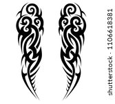 tribal art tattoos ideas scroll ...   Shutterstock .eps vector #1106618381