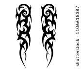 tattoo tribal  symmetric... | Shutterstock .eps vector #1106618387