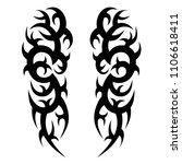 tribal symmetric pattern...   Shutterstock .eps vector #1106618411
