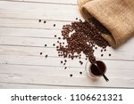 sifting out of the bag coffee...   Shutterstock . vector #1106621321