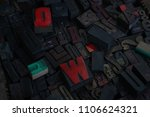 old typography blocks for... | Shutterstock . vector #1106624321