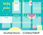 vector illustration of weekly... | Shutterstock .eps vector #1106625869