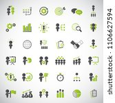 business strategy icons set. | Shutterstock .eps vector #1106627594