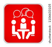 conference icon. people sitting ... | Shutterstock .eps vector #1106633105