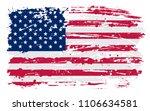 flag of usa.grunge dirty... | Shutterstock .eps vector #1106634581