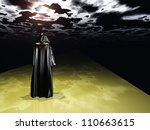 Cloaked Man Before The Darkness