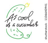 as cool as a cucumber  ... | Shutterstock .eps vector #1106640941