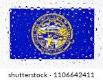 flag of american state nebraska ... | Shutterstock . vector #1106642411