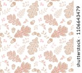 seamless pattern with leaf.... | Shutterstock .eps vector #1106643479
