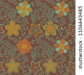 vector floral seamless pattern. ...   Shutterstock .eps vector #1106643485