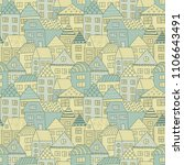 cute cartoon pattern with tiny...   Shutterstock .eps vector #1106643491