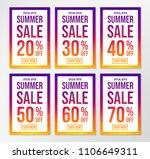 concept of summer sale poster   ... | Shutterstock .eps vector #1106649311