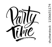 party time lettering.... | Shutterstock .eps vector #1106651174