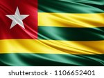 togo flag of silk 3d... | Shutterstock . vector #1106652401