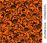 halloween background. vector... | Shutterstock .eps vector #110665241
