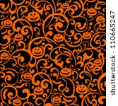 halloween background. vector... | Shutterstock .eps vector #110665247