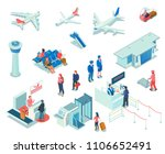 airport isometric icons on... | Shutterstock .eps vector #1106652491