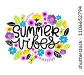 summer vibes. hand written... | Shutterstock .eps vector #1106652794