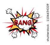 bang  colorful speech bubble... | Shutterstock .eps vector #1106654339