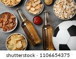 table full of tasty snacks and...   Shutterstock . vector #1106654375