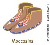 moccasins icon. isometric... | Shutterstock . vector #1106656247
