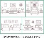 bedroom interior. hotel rooms... | Shutterstock .eps vector #1106661449