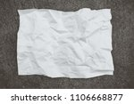 blank crumpled paper and... | Shutterstock . vector #1106668877