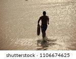 beach lifeguard. man back... | Shutterstock . vector #1106674625