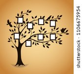 family tree with photo frames.... | Shutterstock .eps vector #1106675954