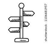 multi labels on sideway road... | Shutterstock .eps vector #1106681957