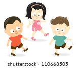 kids exercising   jpeg | Shutterstock . vector #110668505