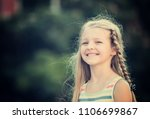 portrait of smiling girl... | Shutterstock . vector #1106699867