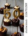 number 50 celebration birthday... | Shutterstock . vector #1106701589