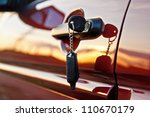 car keys at sunrise | Shutterstock . vector #110670179