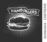 hamburger vector illustration | Shutterstock .eps vector #1106702435