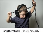 portrait of a boy with... | Shutterstock . vector #1106702537