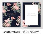 botanical wedding invitation... | Shutterstock .eps vector #1106702894